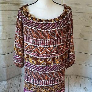 Rafaella silky colorful blouse